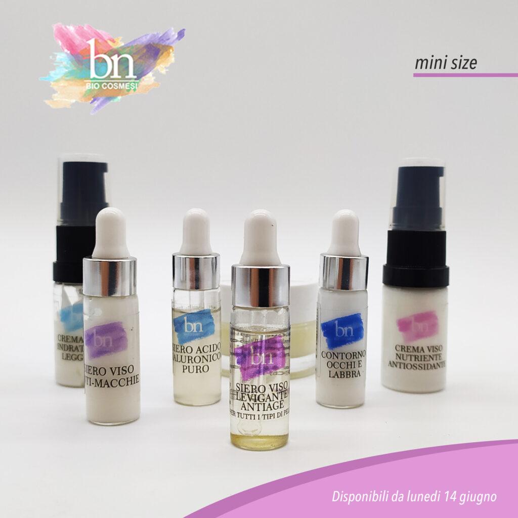 mini size cosmetici bn bio cosmesi